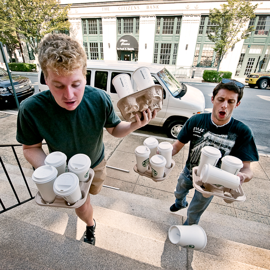 Interns Getting Coffee